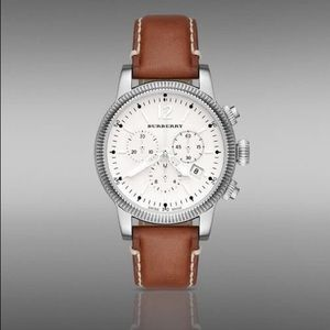 Burberry 42mm Round Stainless Steel Chrono watch